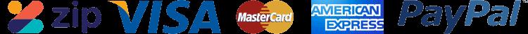 visa mastercard amex paypal logo